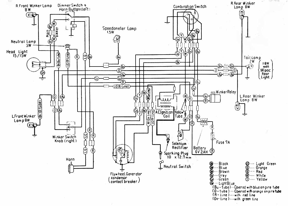 Honda C70 Passport Wiring Diagram : Honda c gbo wiring diagram images
