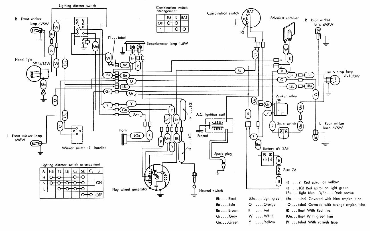 Wiring Diagram Honda Scooter : C honda wiring diagram get free image about