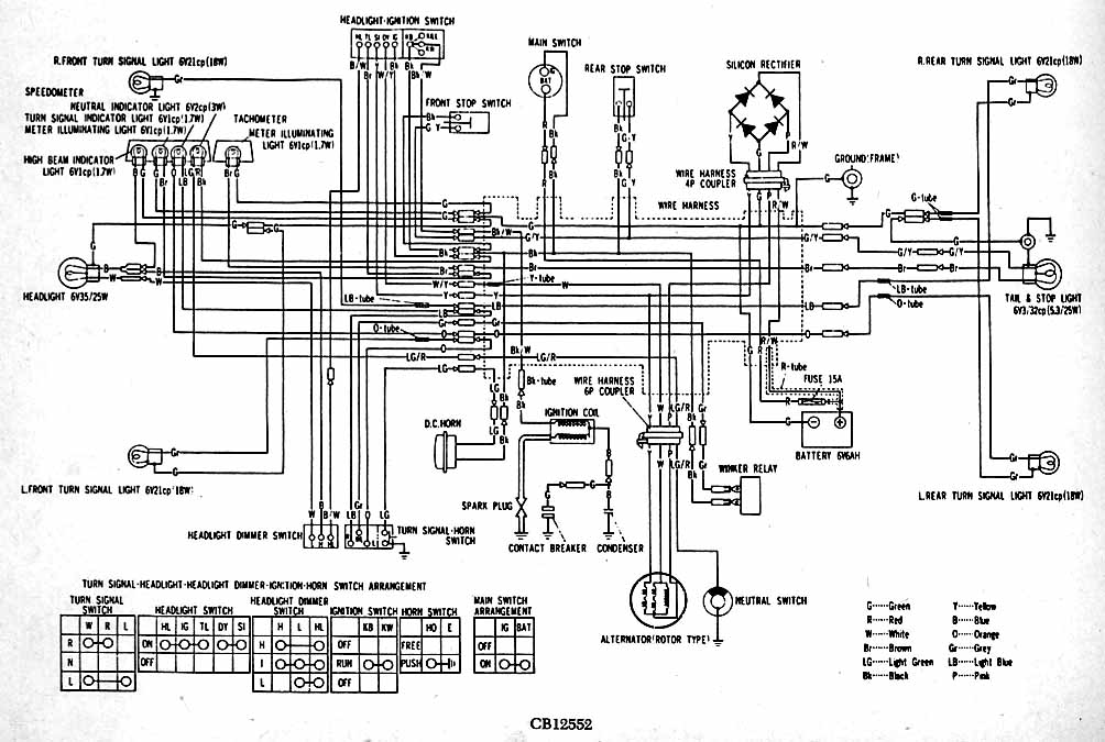 CB125(S2) 1978 cb125s wiring diagram 1978 wiring diagrams collection Basic Electrical Wiring Diagrams at gsmx.co