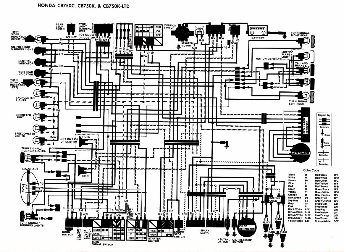 CB750K(DOHC) diagrams 1284938 honda nighthawk cb750 wiring diagram cb750 1980 cb750 wiring diagram at n-0.co
