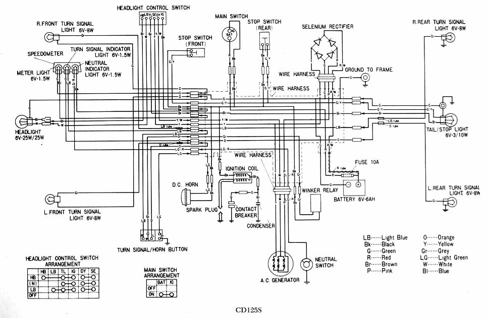 wiring diagram of honda motorcycle cd 70 1969 honda z50