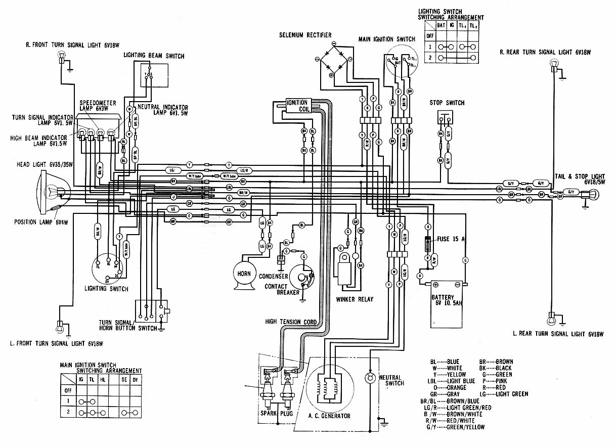 wiring diagram for 1970 honda ct70