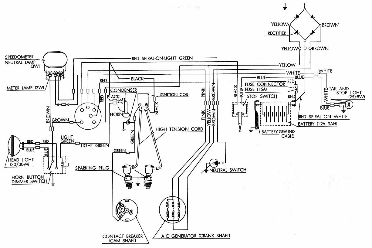 1970 honda trail 70 wiring diagram  1970  free engine