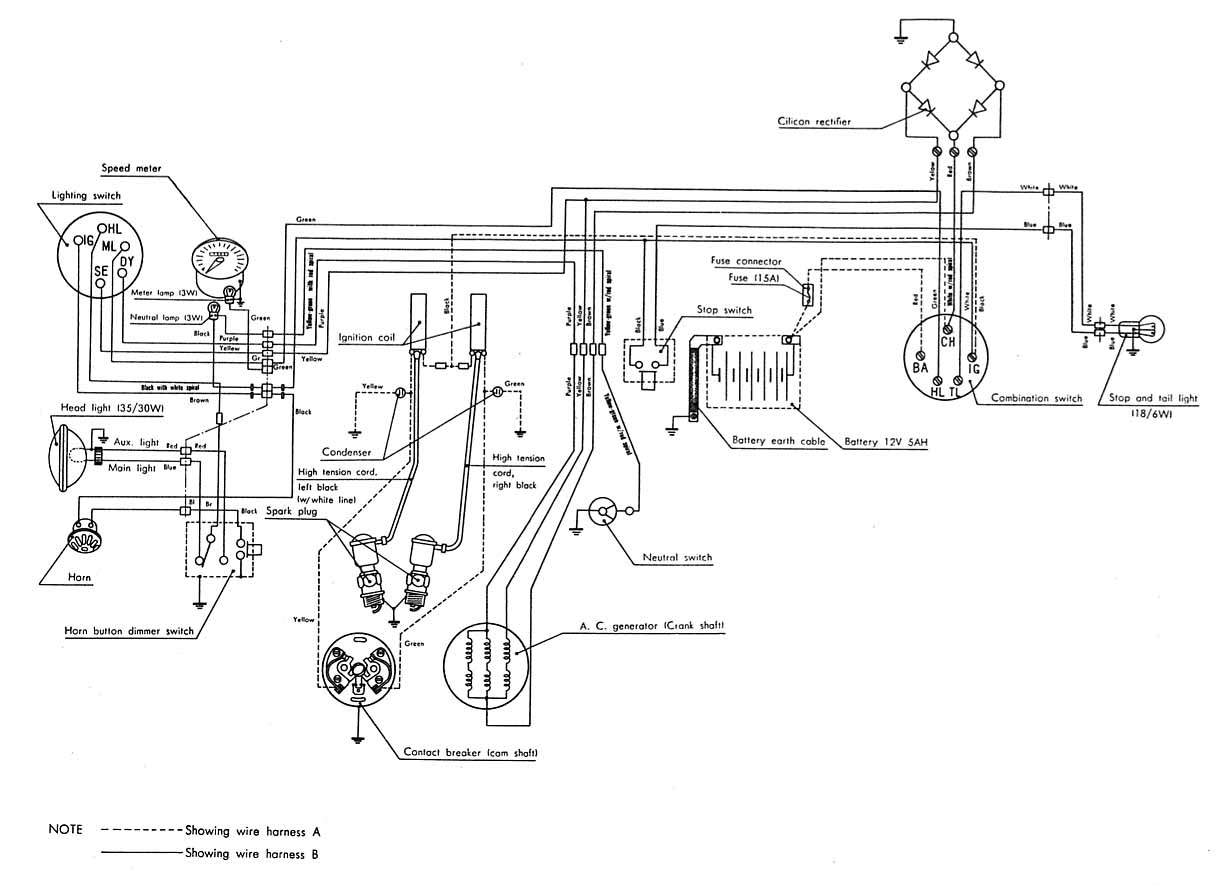 Honda Ca77 Wiring Diagram Library Switch Additionally Johnson Rectifier 4 Wire Dream 305 1967 From Michel Cl72