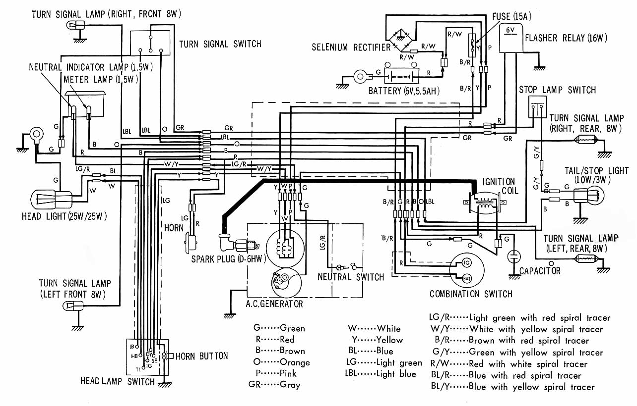 Honda C90 12v Wiring Diagram And Schematics Generator 6v To Conversion Bike Chat Forums Battery